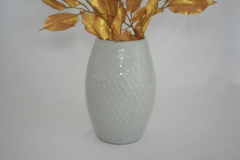 Stoneware ceramic flower vase