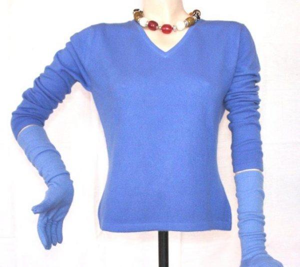 100 % Cashmere V Neck Ladies Sweater