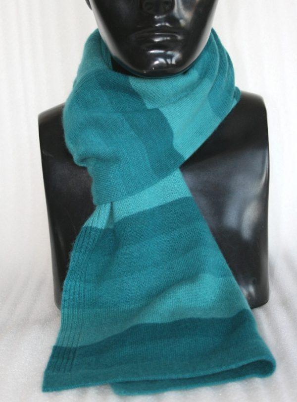 100% Cashmere Knitting Stripe Muffler