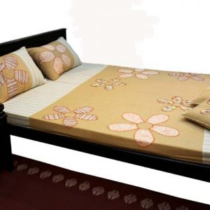 Five Petal Flower Patch Bed Sheet