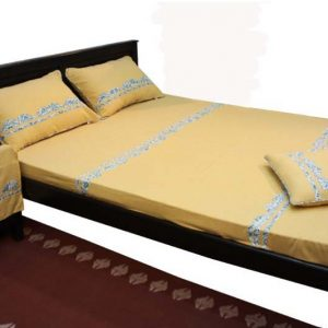 Half Leaf Patch Bed Sheet