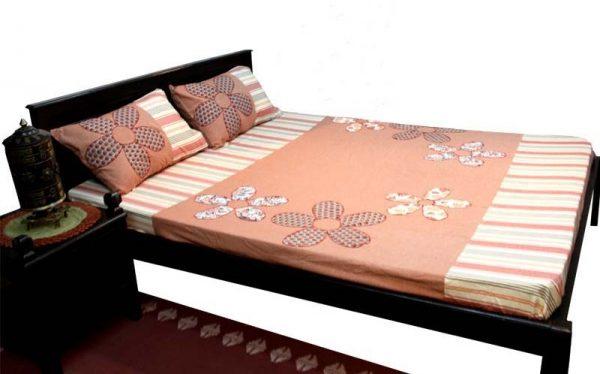 Five Petal Flower Patch Bed Sheet