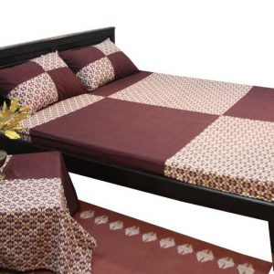 Plain and Check Patch Bed Sheet