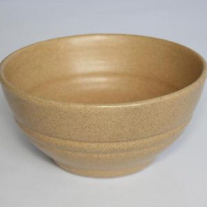 Stoneware ceramic soup bowl
