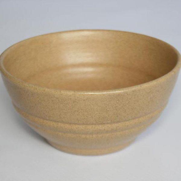 Stoneware ceramic soup bowl