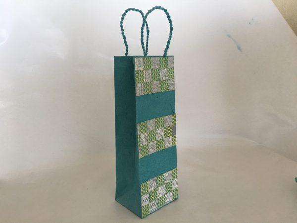 Weave Pattern Wine Bag