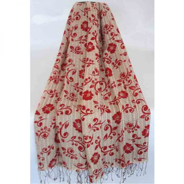 Sheep Wool Screen Printed Shawl