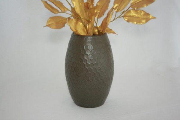 Stoneware Hammering Madal Design Flower vase