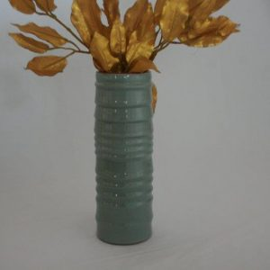 Ceramics Cylinder Design Flower Vase