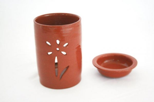Earthenware Ceramic Cylinder Design Aroma Pot