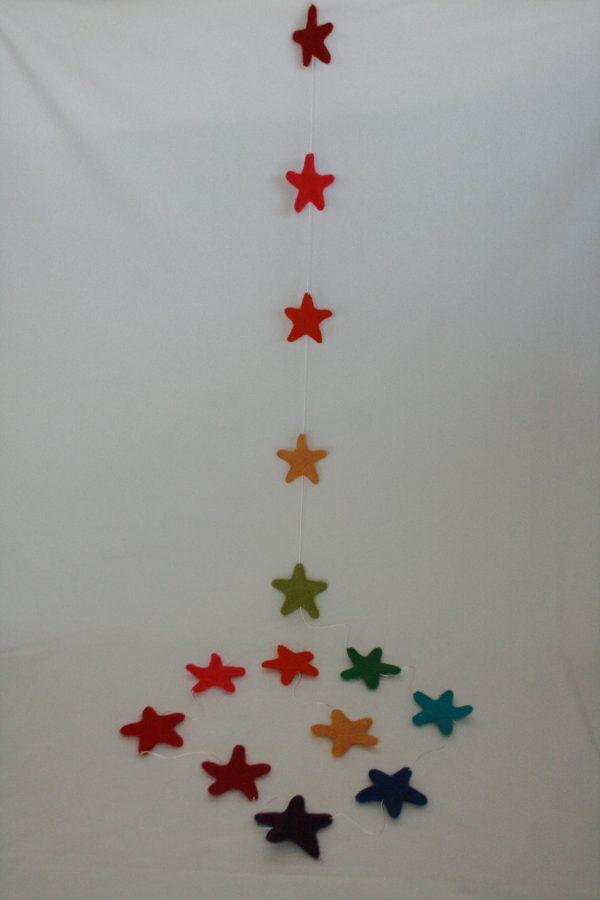 X-mas Felt Star Hanging
