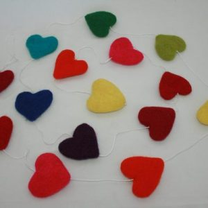 X-mas Felt Heart Hanging Set