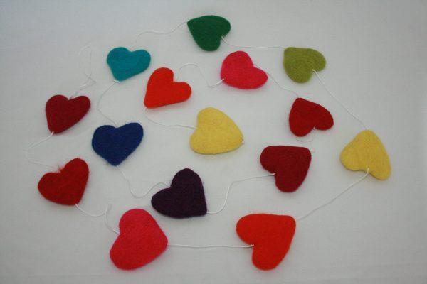 X-mas Felt Heart Hanging Set
