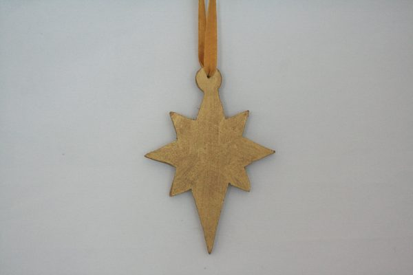 Wood Painted Hanging Star