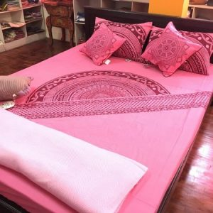 Mandala Slanted Border Bed Sheet