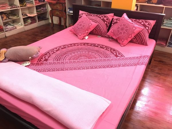 Mandala Slanted Border Bed Sheet