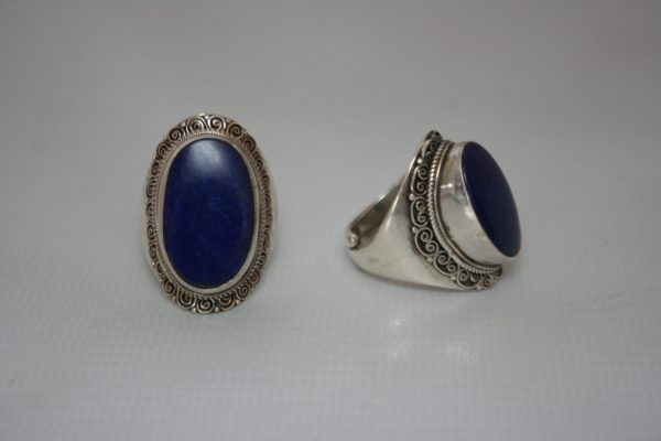 Silver Akura Lapis Stone Ring