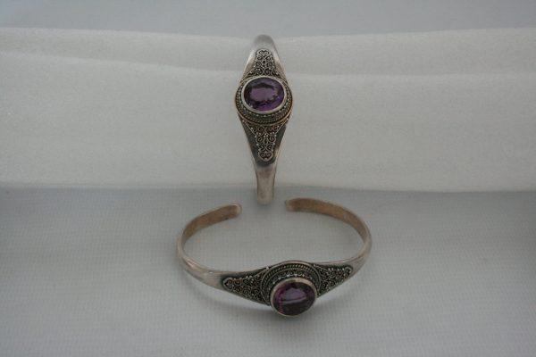Silver One Stone with Akura Amethyst Bangle