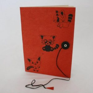 Red Panda Print Notebook