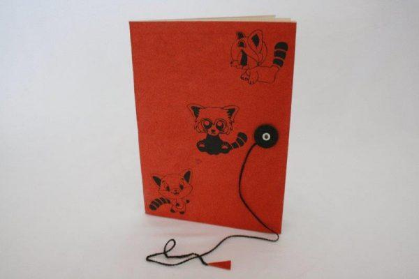 Red Panda Print Notebook