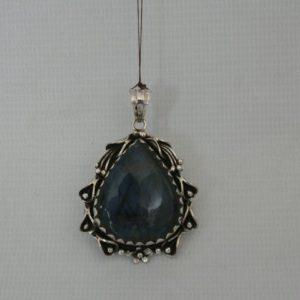 Silver Moon Stone Laborite Pendant