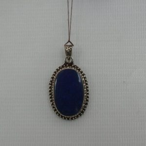 Silver Akura Lapis Stone Pendant