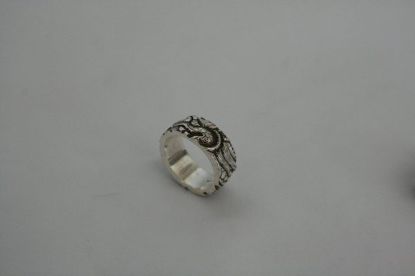 Silver Flat Carving Ring