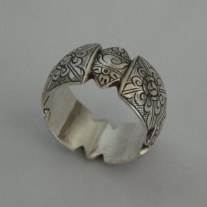 Silver Baphu Carving Ring