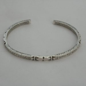 Silver Carving Bangle