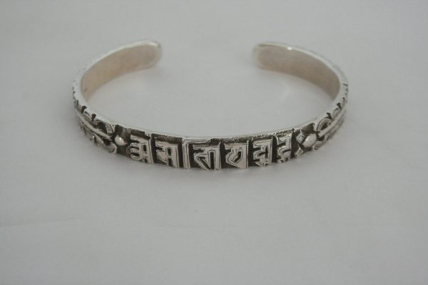 Silver Dragon Carving Bangle