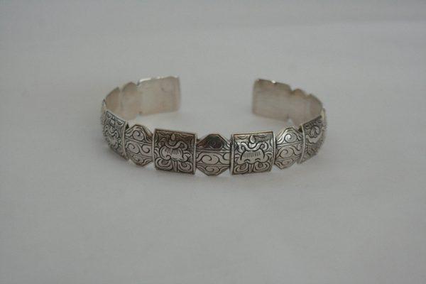 Silver 8 Symbol Bangle