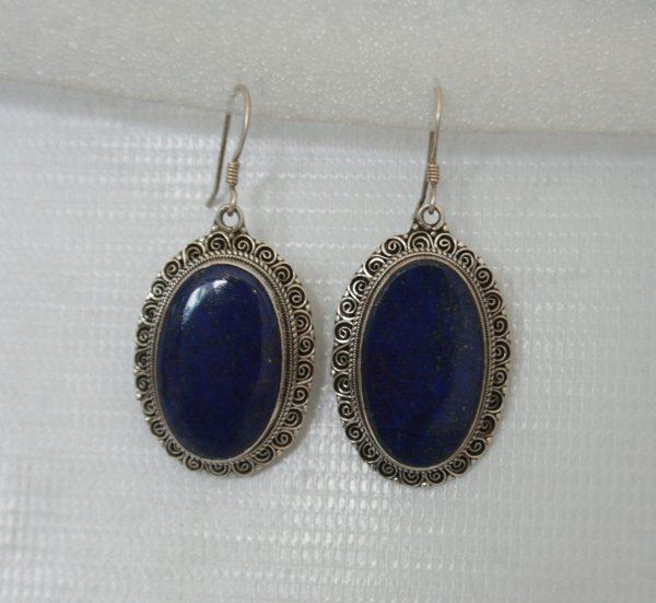 Silver Akura with Lapis Earring