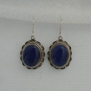 Silver Akura with Lapis Earring