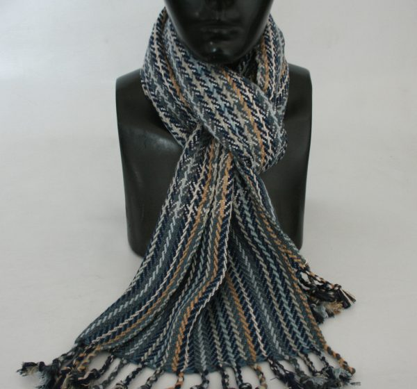 Heavy Yarn Cotton and Viscose Muffler
