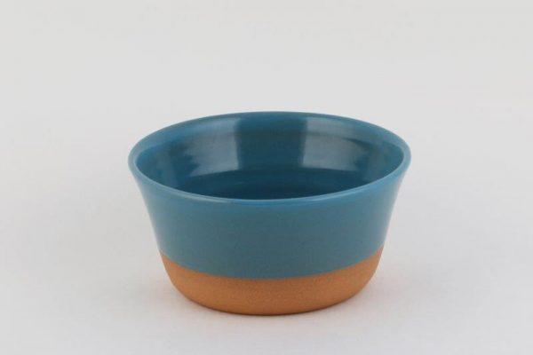 Stoneware Bowl Half Glaze