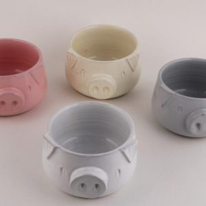 Ceramic Pig Face Design Flower Planter Gamala