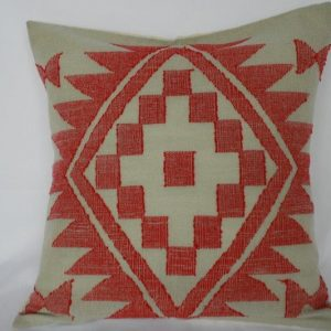 Woolen Dhaka Design Cushion Cover