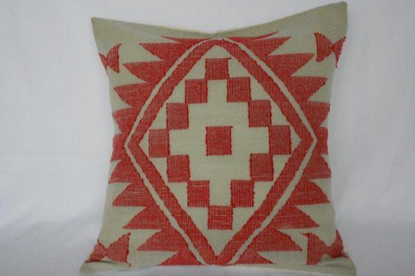 Woolen Dhaka Design Cushion Cover