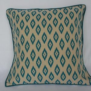 Dhaka Print Bed Cushion Cover