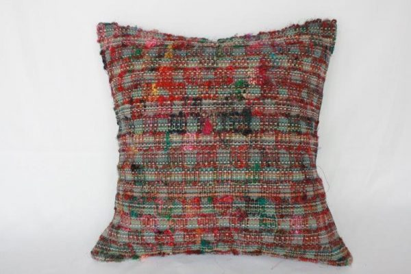 Cotton and Raw Silk Mix Cushion Cover