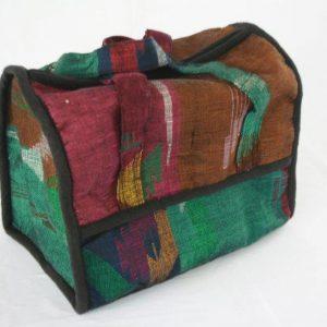 Dhaka Half Oval Rectangle Makeup Bag