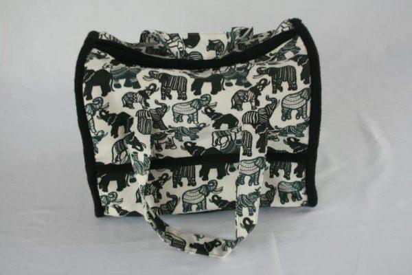 Cotton Half Oval Rectangle Makeup Bag