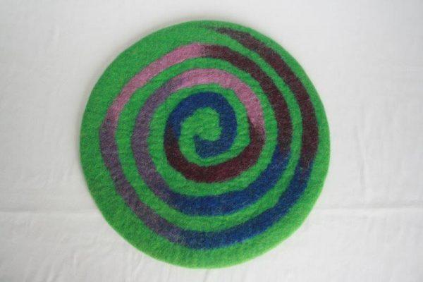 Felt Spiral Round Placemat
