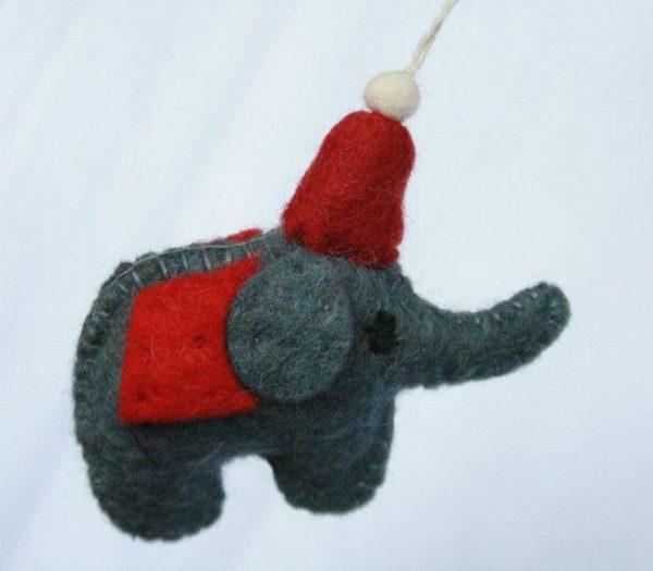 Felt Hanging Elephant