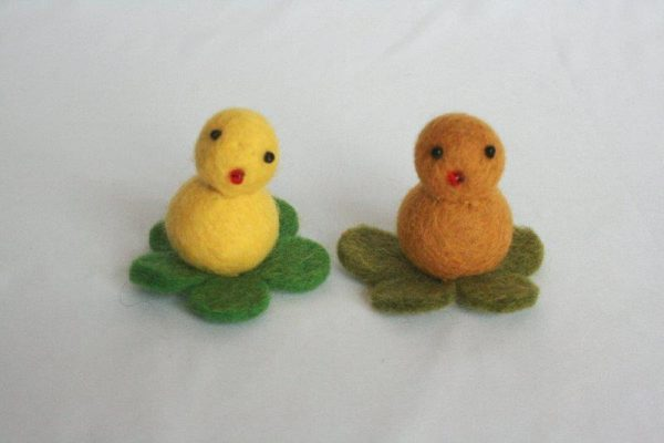 Felt Duck on Leaf