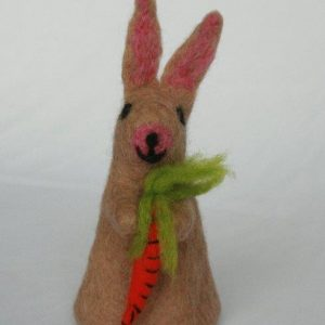 Rabbit with Carrot Egg Cover