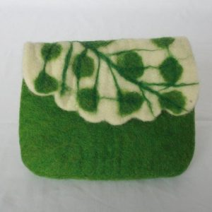 Felt Leaf Design Money Purse