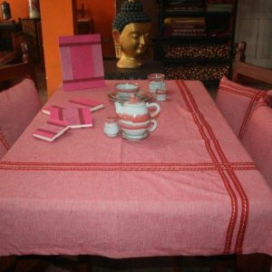 Cotton Red Table Cover