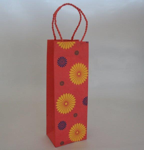 Three Flower Range Wine Bag