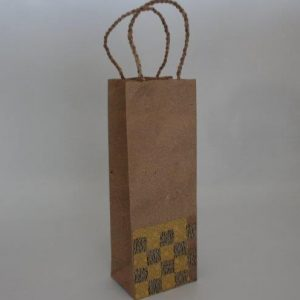 Weave Pattern Wine Bag